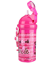 400 ml 6.5 x 6.5 x 19 cm, Cute and durable water bottle for Barbie lovers