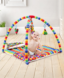 Fab N Funky Smiling Clown Twist N Fold Activity Play Gym - Multicolour