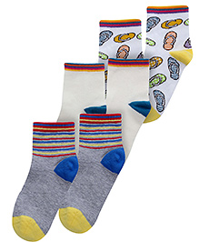 Mustang Multicolor Sleeper Print Socks - Set Of 3 Pairs