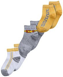 Mustang Multicolour Belt Print Socks - Set Of 3 Pairs