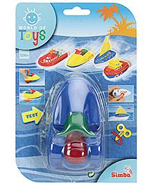 Simba World Of Toys Wind Up Sea Mini Boat Blue - 13 x 7 x 7.5 cm