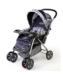 Luv Lap Comfy Baby Stroller Cum Pram 1002 B - Deep Grey