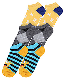 Mustang Fashion Feet Bird Print Socks - Set of 3