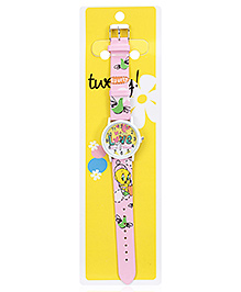 Tweety Light Pink Analog Wrist Watch - 23 Cm