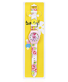 Tweety Light Pink Analog Wrist Watch