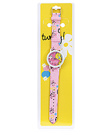 Tweety Butterfly Print Analog Wrist Watch - 23 Cm