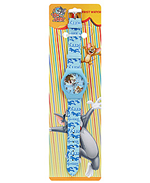 Tom And Jerry Sky Blue Kids Wrist Watch