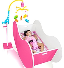 OCradle Lulla Barbie Pink - 46 X 22 X 23.5 Inches