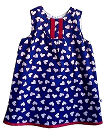 COO COO Sleeveless A Line Dress - Heart Print