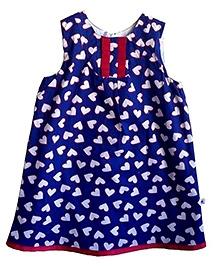 COO COO Sleeveless A Line Dress - Heart Print