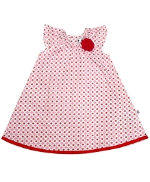 COO COO Sleeveless A Line Dress with Rosette