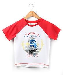 Beebay Raglan Sleeves T Shirt - Nautical Print