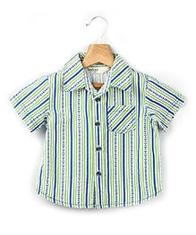 Beebay Anchor Stripe Printed Half Sleeves Shirt