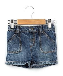 Beebay Denim Shorts Blue