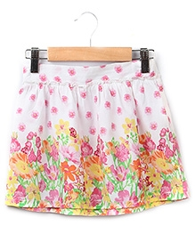 Beebay Border Print Skirt Multi Color