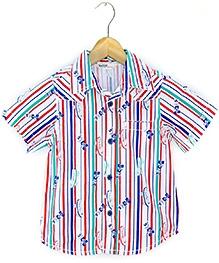 Beebay Skate Stripes Print Half Sleeves Shirt