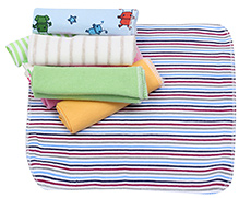 Multicolor Wash Cloth Stripes - Pack of 8