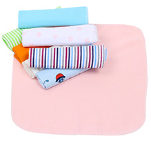 Multicolor Wash Cloth Peach - Pack of 8