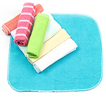 Multicolor Wash Cloths - Set Of 8 Pieces