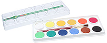 Camlin Water Colour Cakes 12 Shades Non toxic, Easy to mix, flow easily and dry quickly