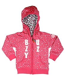 Buzzy Full Sleeves Jacket - Attached Fancy Hood