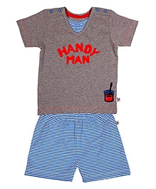 Buzzy Short Sleeves T Shirt And Shorts - Handy Man Print