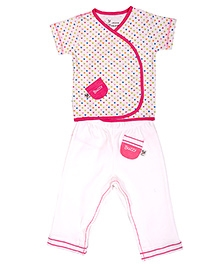Buzzy Heart Print Short Sleeves T Shirt And Legging