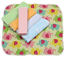 Carters Multicolor Wash Cloths - Set Of 6 Pieces