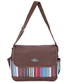 1st Step Diaper Bag with Flap Cover - Brown