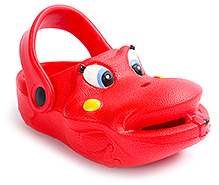 Cute Walk Smiling Frog Face Clog - Red
