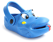 Cute Walk Smiling Frog Face Clog - Blue