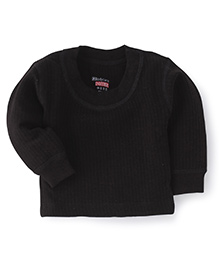 Bodycare Full Sleeves Black Thermal Inner Wear 55 cm, 1 to 2 Years, Soft thermal top to keep your kid warm and cozy