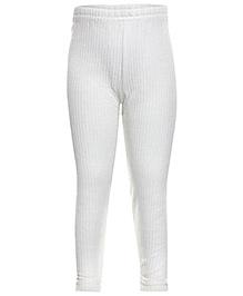 Bodycare White Plain Thermal Legging