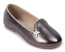 Cute Walk Shinny Party Belly Shoes - Grey