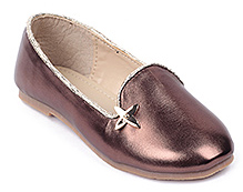 Cute Walk Shinny Party Belly Shoes - Brown
