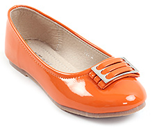 Cute Walk Orange Party Belly Shoes - Attached Buckle