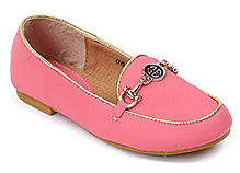 Cute Walk Pink Belly Shoes - Shinny Buckle