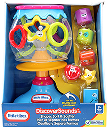 Little Tikes Discover Sounds Shape Sort And Scatter - 9 Months Plus - 20 X 17 X 31 Cm