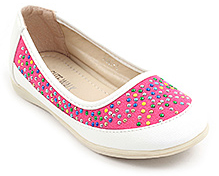 Cute Walk Embedded Beads Slip On Shoes - Pink