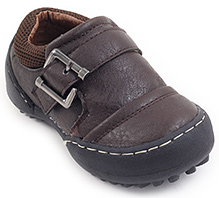 Cute Walk Semi Formal Shoes - Coffee