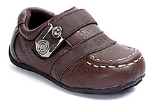 Cute Walk Semi Formal Faux Leather Shoes - Coffee