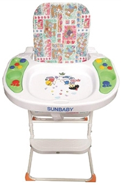 Sunbaby High Chair with Music - Multicolor