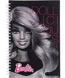 Barbie Spiral Binding Dollicious Print Note Book - 160 Pages - 22 X 15.2 X 1 Cm