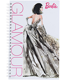 Barbie Spiral Binding Glamour Print Note Book - 160 Pages - 22 X 15.2 X 1 Cm