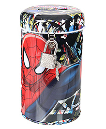 Spider Man Coin Bank with Lock - Red