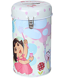 Dora Coin Bank with Lock - White