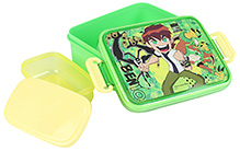 Ben 10 Rectangular Lunch Box with Small Box - Green