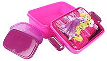 Disney Princess Pink Lunch Box 18.5 x 12.5 x 6 cm, Fabulous and colorful lunch box for kids to enjoy...