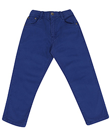 Gini & Jony Blue Full Length Fixed Waist Trouser