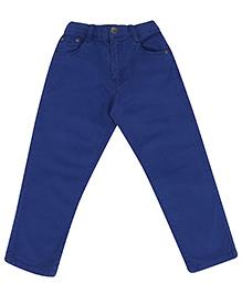 Gini & Jony Blue Full Length Fixed Waist Trouser
